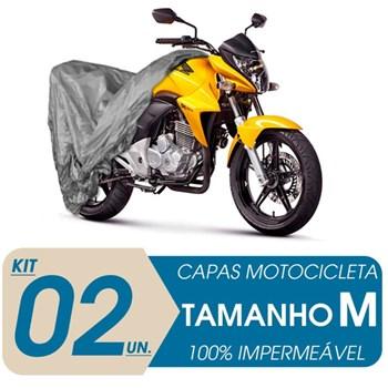 2 CAPAS PARA COBRIR MOTO IMPERMEÁVEL PROTEÇÃO UV M