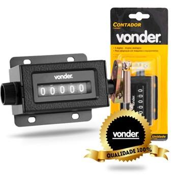 2 Contador De Batidas Voltas Com 5 Dígitos Vcm-5 Vonder