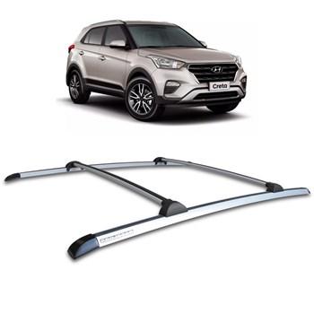 Bagageiro de Teto Aluminio Hyundai Creta 2016 2017 2018 Prata