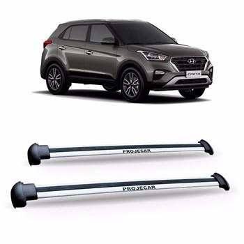 Bagageiro De Teto Hyundai Creta 2017 2018 Aluminio Prata