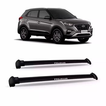 Bagageiro Do Teto Hyundai Creta 2017 2018 Aluminio Preto