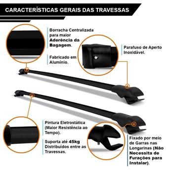 Bagageiro Suporte Do Teto Trailblazer 2013 A 2018 Preta