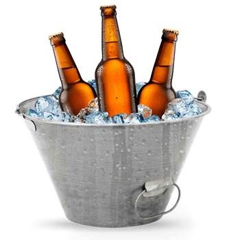 Balde Para Cimento, Gelo , Agua 10 Litros - Vonder Metálico