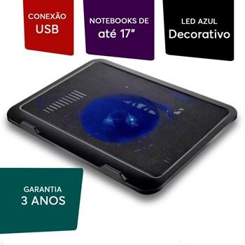Base Para Notebook Cooler E Led Slim Multilaser Ac263