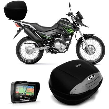 Bau 45 Litros Fume Bauleto Moto + Gps Tracker 4.3