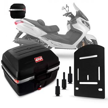Baú Moto 27 Litros Givi + Suporte Bagageiro Maxsym 400