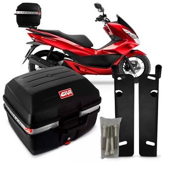 Baú Moto 27 Litros Givi + Suporte Bagageiro Pcx