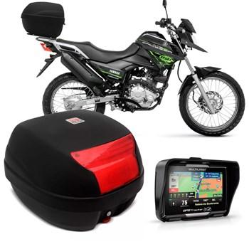 Bau Moto 29 Litros Fume + Gps Tracker 4.3 Prova D'agua