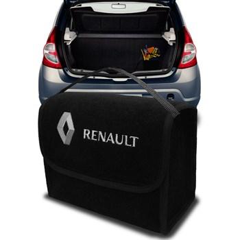 Bolsa De Porta Malas Renault Kwid Multiuso Carpete Preto
