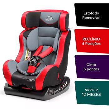 Cadeira Multikids Matrix Evolution Para Auto - De 0 A 25 Kg Preto com Vermelho<BR>