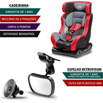 Cadeirinha Para Auto Bb516 Vermelha + Espelho Safe Interno