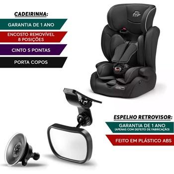 Cadeirinha Para Auto Bb517 Preta + Espelho Safe Interno