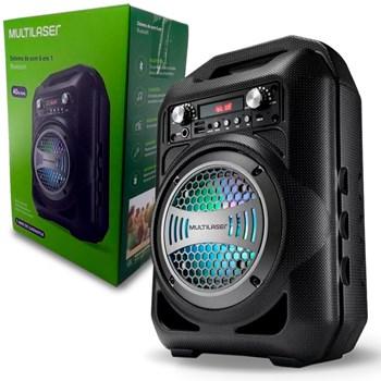Caixa De Som Multilaser Portátil Bluetooth Sd P2 Usb - Sp256