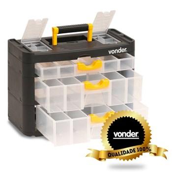 Caixa Plástica Multiuso 03 Gavetas Organiza Vonder Opv0400