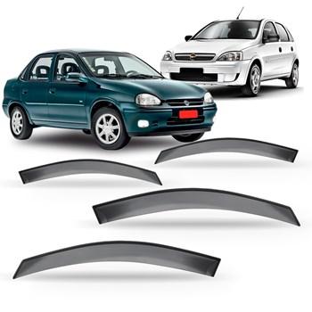 Calha Chuva Corsa Joy Premium Hatch Sedan 03 À 12 4 Portas