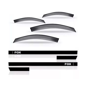 CALHA CHUVA FOX / SPACEFOX 4 PORTAS + FRISO LATERAL