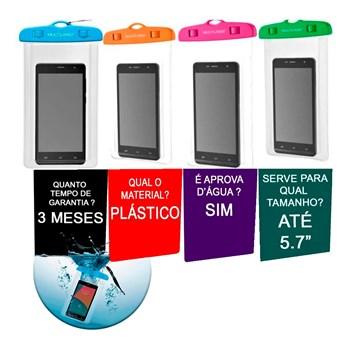 Capa P/ celular À Prova Dágua Multilaser Original Cor Sortida