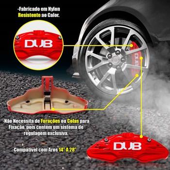 Capa Pinça De Freio Vermelha Dub Universal Kit 4 Peças