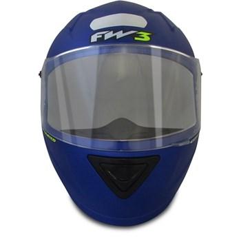 Capacete Esportivo Moto Fw3 Fechado Azul Fosco Gt Limited 60