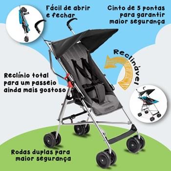 Carrinho Bebe Multikids Safe Tipo Guarda-chuva Com Garantia