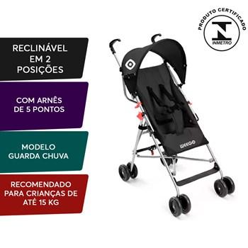 Carrinho De Bebê Guarda-chuva Weego Way Preto - Bb510