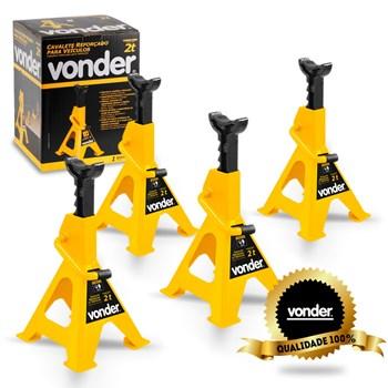 Cavalete Para Veículos Reforçado Vonder Kit 4 Peças