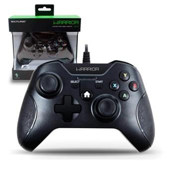 Controle Xbox One Warrior Multilaser Preto