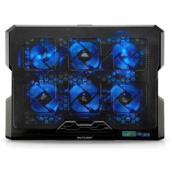 Cooler Para Notebook Com 6 Fans Led Azul Hexa Cooler - Ac282