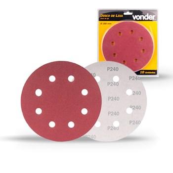 Disco Lixa Lixadeira Teto Lpv 750 C/ 10 Pçs Grão 240 Vonder