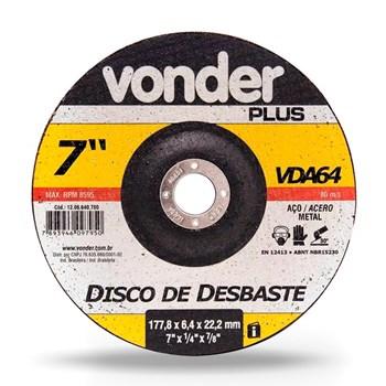 Disco Para Desbaste Profissional Vonder 1206640700