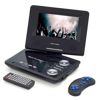 Dvd Player Portátil Multilaser com Tela Giratoria Preto - AU710