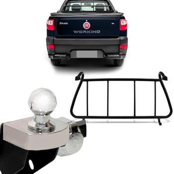 Engate Fiat Strada 2001 A 2017 + Grade Vigia Traseiro