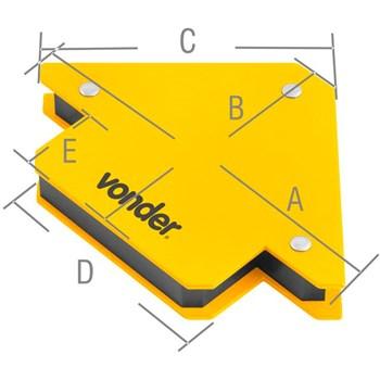Esquadro Magnético para Solda 10kg Vonder