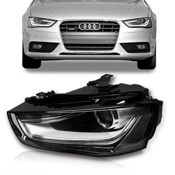 Farol Audi A4 2013 2014 2015 2016 Elétrico Com Motor Com Led Sem Xênon