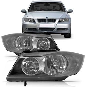 FAROL BMW SERIE 3 2006 A 2009 SEM PROJETOR TYC