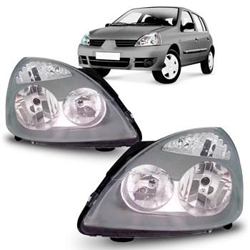 Farol Clio 2003 2004 2005 2006 2007 2008 A 2012 Preto