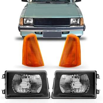 Farol Com Pisca Chevrolet Chevette 1983 A 1993 Chevy Marajó Ambar
