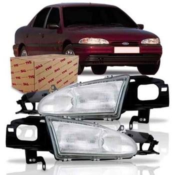 Farol Ford Mondeo Sedan 1993 1994 1995 1996 Cromado TYC