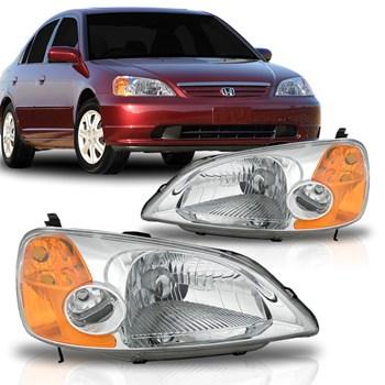 Farol Honda Civic 2001 2002 2003 Pisca Ambar