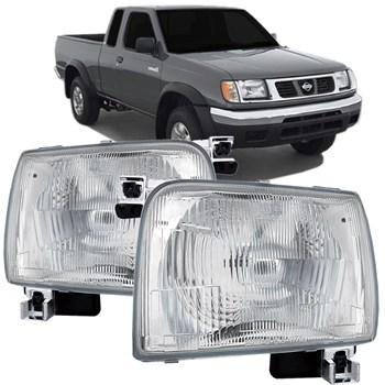 Farol Nissan Frontier 1997 1998 1999 2000 2001 2002 2003 Cromado