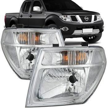 Farol Nissan Frontier 2008 2009 2010 2011 Cromado