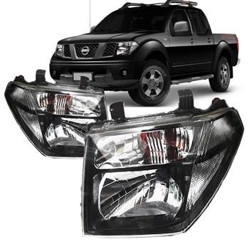 Farol Nissan Frontier 2012 2013 2014 Máscara Negra