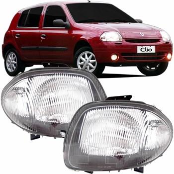 Farol Renault Clio 1999 2000 2001 Foco Simples