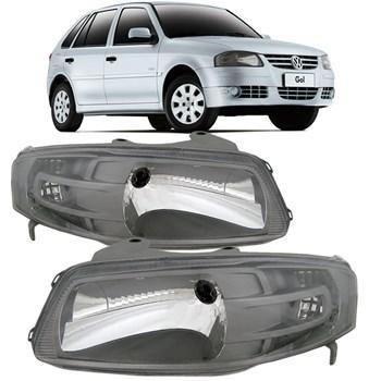 Farol Volkswagen Gol Parati Saveiro G4 2005 2006 2007 2008 2009 2010 Máscara Cinza