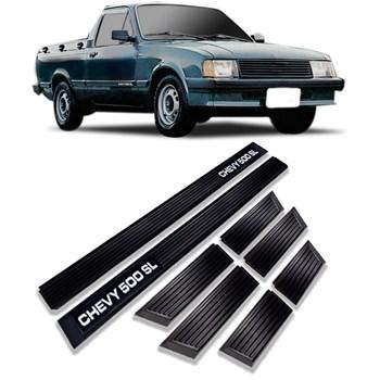 Friso Lateral Chevy 500 SL 1983 A 1986 8 Peças Preto