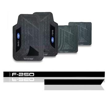 FRISO LATERAL FORD F250 (TODAS) + JOGO TAPETE CARPETE PVC
