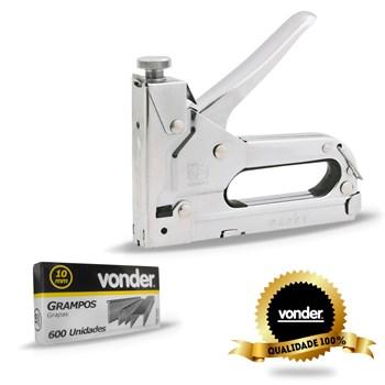 Grampeador Pinador Manual Profissional Tapeçaria Chapa de Aço Vonder