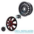 """Jogo Calotas Prime Aro 13"""" Black Red"""