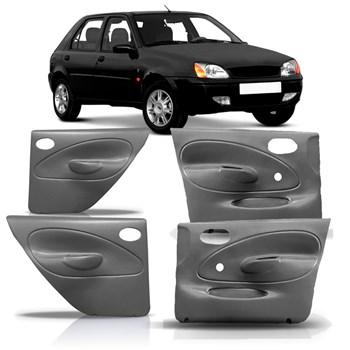 Jogo Completo Forro Porta Fiesta 1996 1997 1998 1999 2000 2001 2002 2003 Manual Cinza