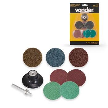 Jogo de Discos de Lixa com Esponja Abrasiva 50mm Vonder